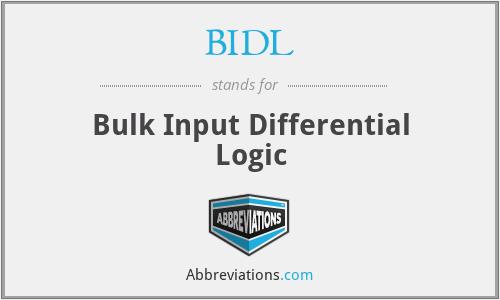 BIDL - Bulk Input Differential Logic