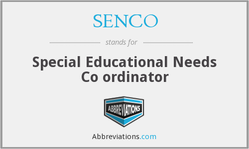 What does SENCO stand for?