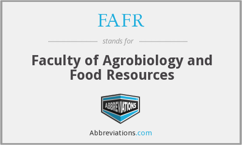What does FAFR stand for?