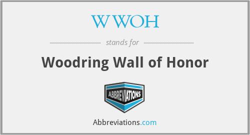 WWOH - Woodring Wall of Honor