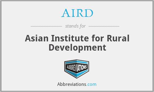 AIRD - Asian Institute for Rural Development