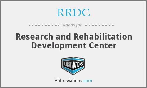 RRDC - Research and Rehabilitation Development Center