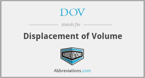 DOV - Displacement of Volume