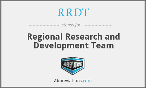 RRDT - Regional Research and Development Team