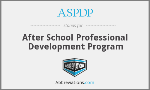 What does ASPDP stand for?