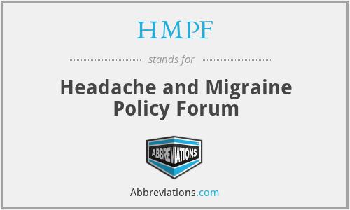 HMPF - Headache and Migraine Policy Forum