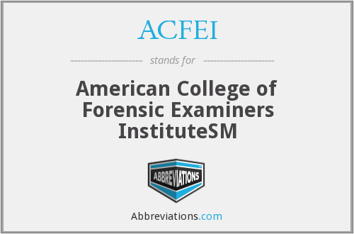 What does ACFEI stand for?