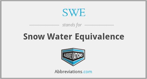 SWE - Snow Water Equivalence