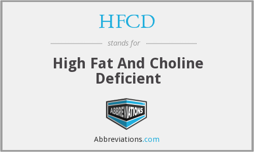 HFCD - High Fat And Choline Deficient