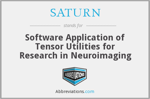 SATURN - Software Application of Tensor Utilities for Research in Neuroimaging