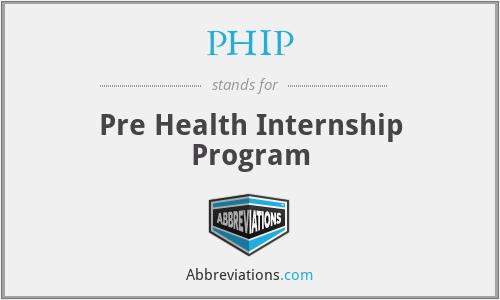 PHIP - Pre Health Internship Program