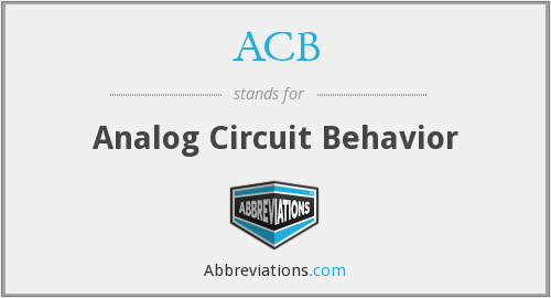 ACB - Analog Circuit Behavior