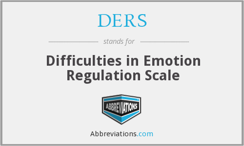 DERS - Difficulties in Emotion Regulation Scale