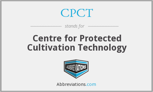 CPCT - Centre for Protected Cultivation Technology