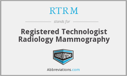 What does RTRM stand for?