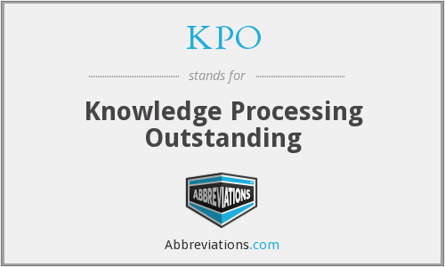 KPO - Knowledge Processing Outstanding