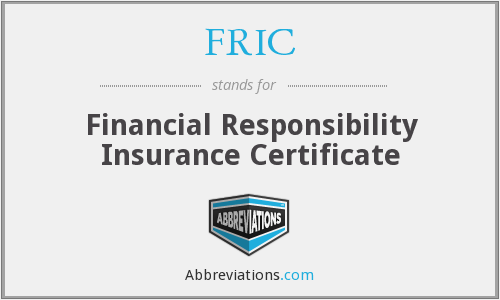 FRIC - Financial Responsibility Insurance Certificate