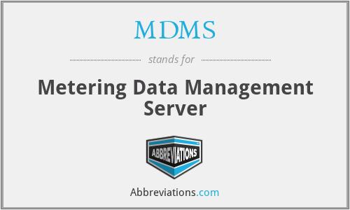 MDMS - Metering Data Management Server