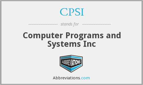 What does programs stand for?