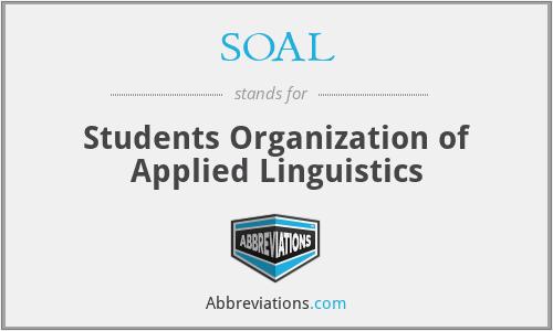 SOAL - Students Organization of Applied Linguistics