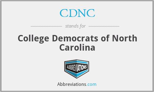 CDNC - College Democrats of North Carolina