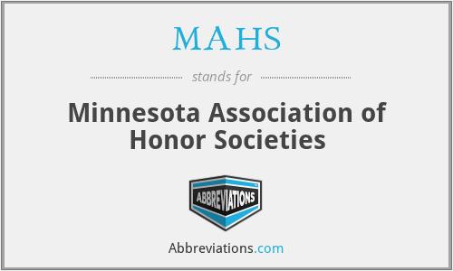 MAHS - Minnesota Association of Honor Societies