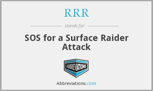 RRR - SOS for a Surface Raider Attack