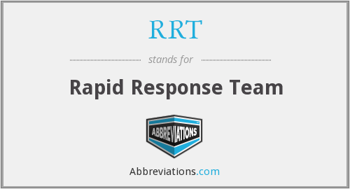 What does RRT stand for?