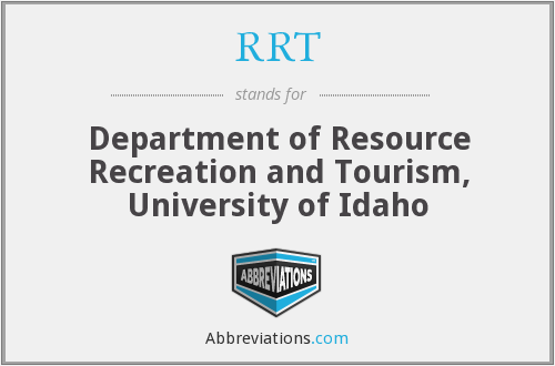 RRT - Department of Resource Recreation and Tourism, University of Idaho