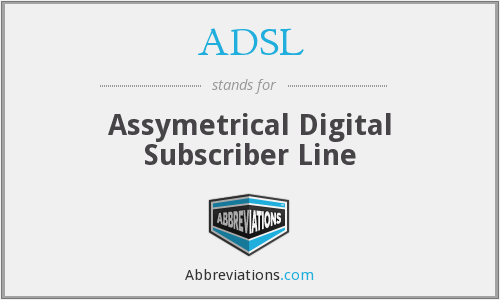 ADSL - Assymetrical Digital Subscriber Line
