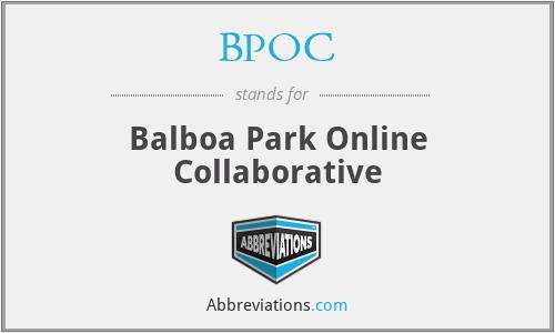 BPOC - Balboa Park Online Collaborative
