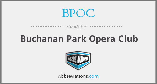 BPOC - Buchanan Park Opera Club
