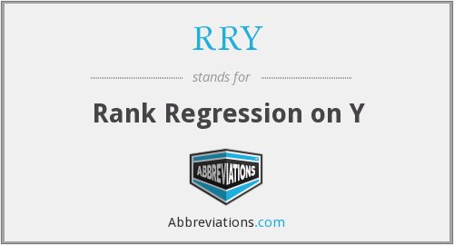 RRY - Rank Regression on Y
