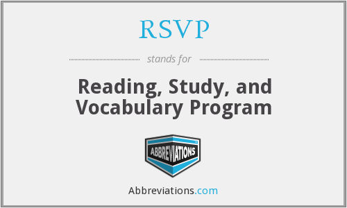 RSVP - Reading, Study, and Vocabulary Program