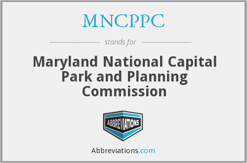 What does MNCPPC stand for?