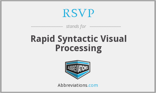 RSVP - Rapid Syntactic Visual Processing