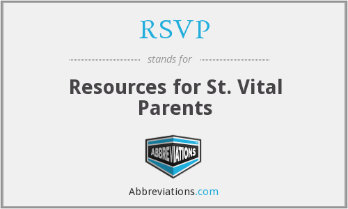 RSVP - Resources for St. Vital Parents