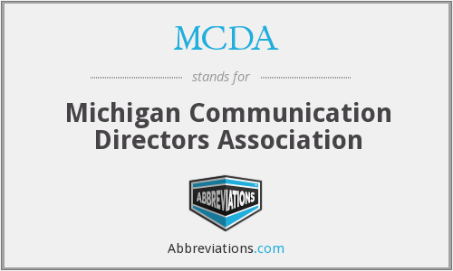 What does MCDA stand for?