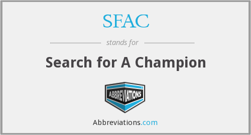 SFAC - Search for A Champion