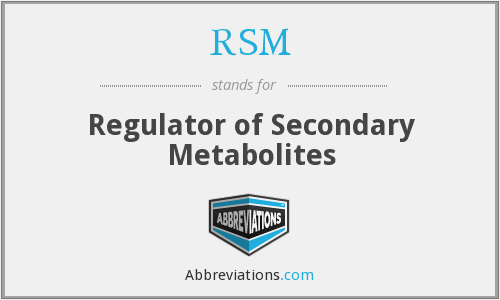 RSM - Regulator of Secondary Metabolites
