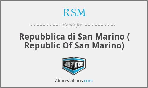 RSM - Repubblica di San Marino ( Republic Of San Marino)
