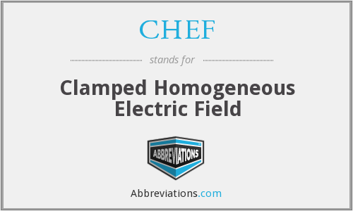 CHEF - Clamped Homogeneous Electric Field