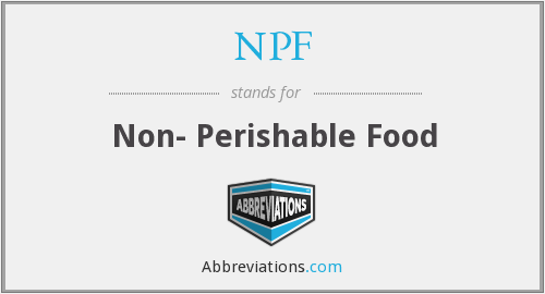 NPF - Non- Perishable Food