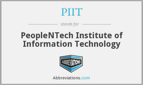 PIIT - PeopleNTech Institute of Information Technology