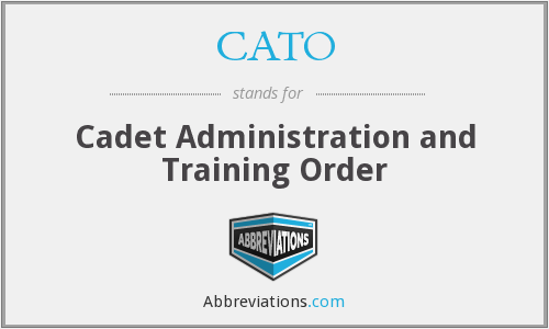 CATO - Cadet Administration and Training Order