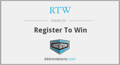 RTW - Register To Win