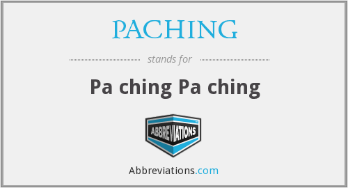 PACHING - Pa ching Pa ching