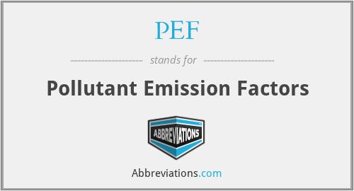 PEF - Pollutant Emission Factors