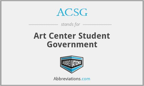 ACSG - Art Center Student Government