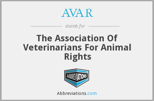 AVAR - The Association Of Veterinarians For Animal Rights